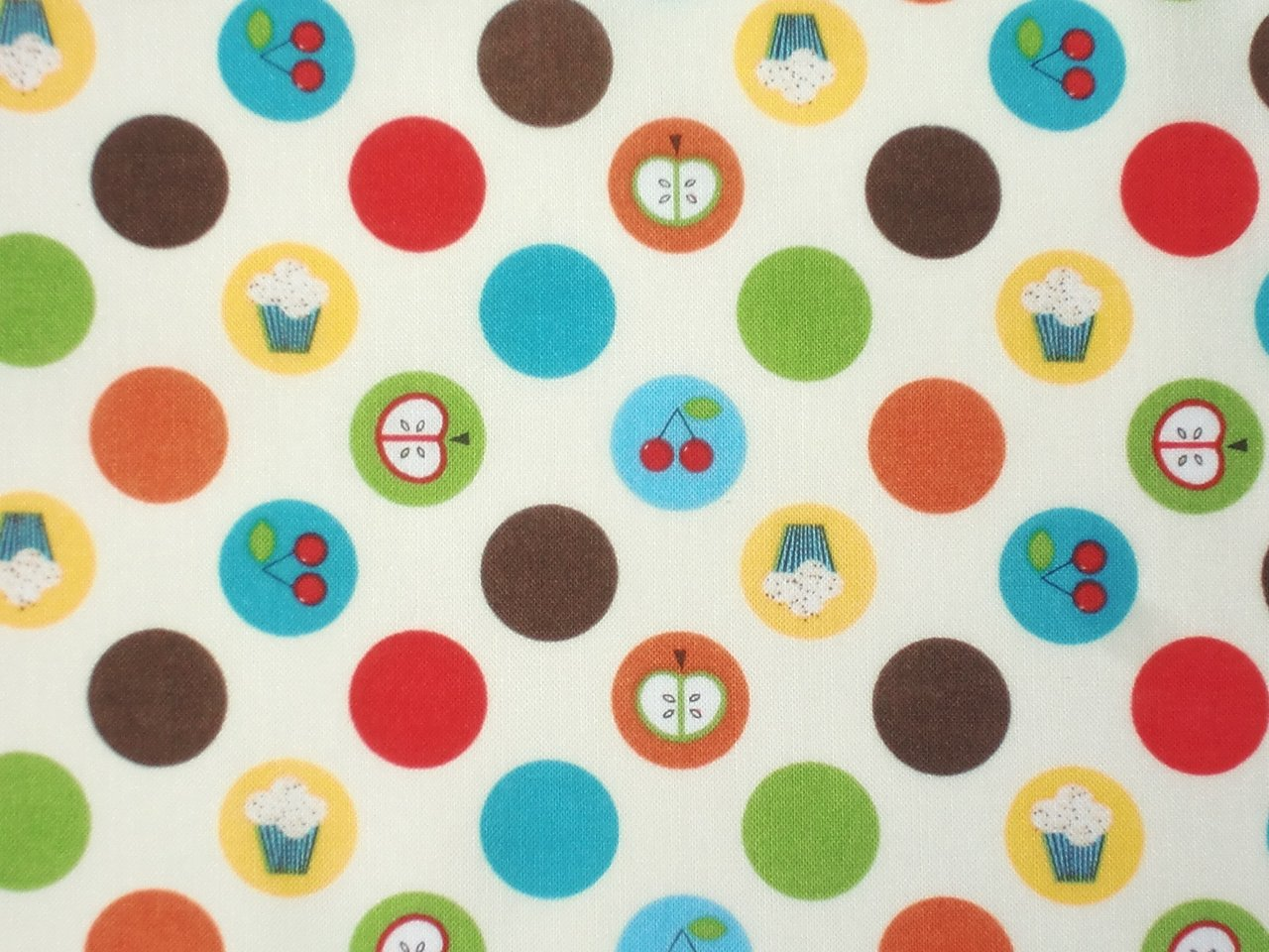 Patchworkstoff Kiss the Cook bunte Punkte Dots