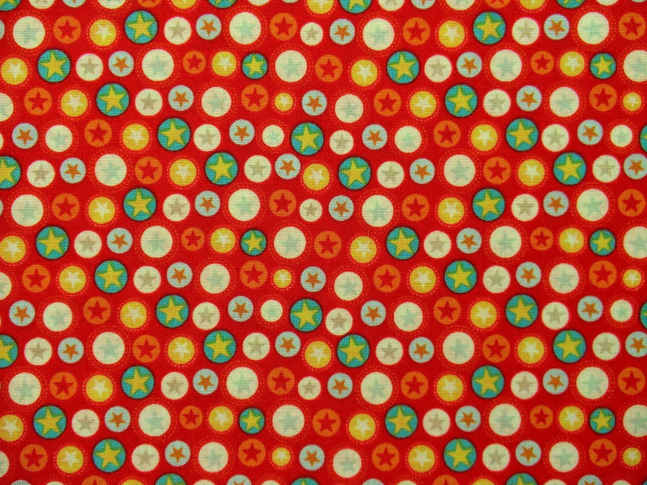 Patchwork Fabrics Boy Crazy Stars red