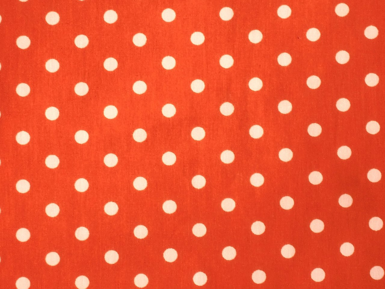 Patchworkstoff Punkte Dots Weiß Orange