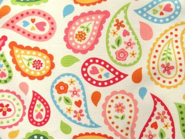 Cotton Fabric Riley Blake Sunshine Paisley white