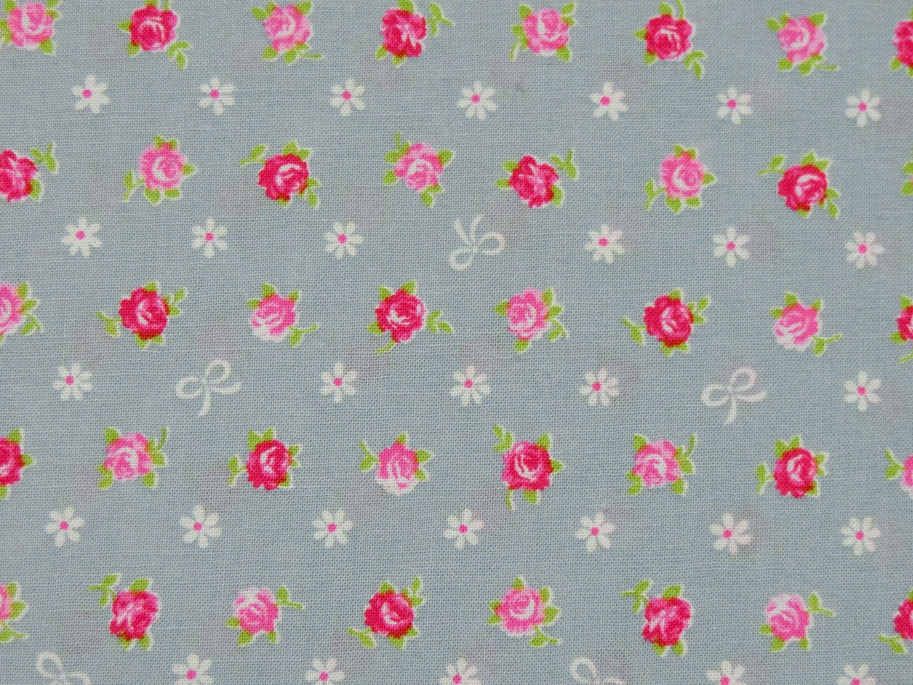 Quilt Gate Cotton Fabric Roses Pink Grey