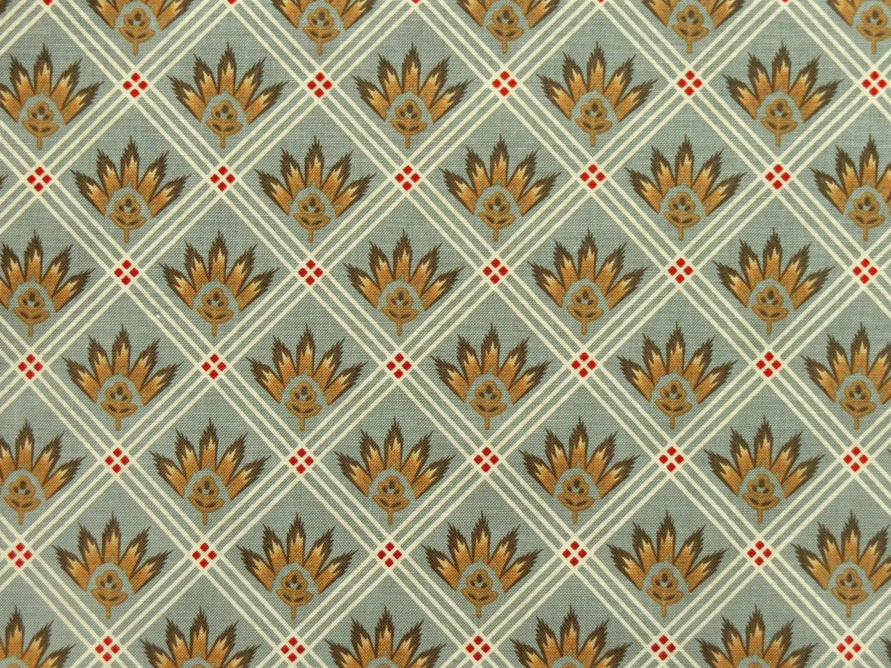 Patchworkstoffe Provence Frankreich Grau Rot Gold