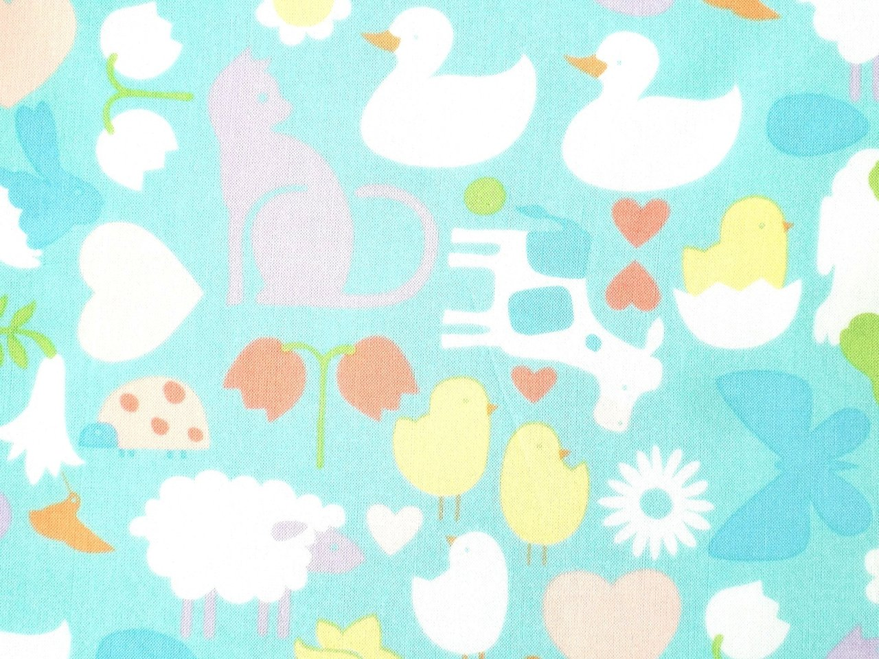 Cotton Fabric First Spring A. Henry Kids